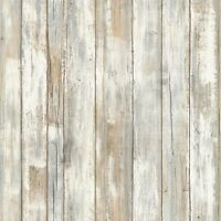 RMK9050WP Distressed Wood Peel and Stick Wallpaper FREE SHIPPING