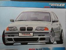 RIEGER M5 STYLE BMW E46 GENUINE FRONT BUMPER LIP SPOILER. SEDAN 318I 328I 325
