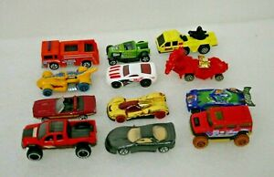 Vintage and current Lot of Toy Cars and Trucks Hotwheels lot of 12 cars
