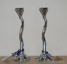 "Set of 2 EMPIRE Art Deco FLEUR DE LIS Star Crown Moon Heart Candlesticks 12"" NWT"