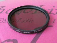 CPL 58mm Filter Ultra Violet For Canon Sony Nikon Pentax Camera Lens SLR DSLR