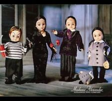 MADAME ALEXANDER DOLLS Addams FAMILY  FAO GOMEZ, MORTICIA, WEDNESDAY  PUGSLEY