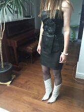 Dsquared2 Leather Dress Sz 8 UK 40 IT