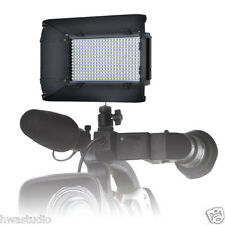 312DS PRO LED Dimmable Bicolor Photo Video Light LCD Screen Barndoors Batteries