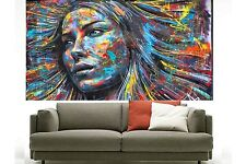 300cm by 160cm street art girl face huge  large  Australia  abstract painting