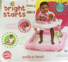 Bright Starts Pretty in Pink Walk-A-Bout Baby Walker - Jun brand new in the box