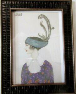 "Mela Koehler Women With Hat Framed Fashion Card Print 5"" X 7"""