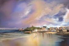 Tenby Harbour Mixed Media Landscape Seascape Master Print