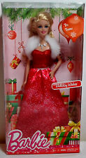 BARBIE 2014 HAPPY HOLIDAY WISHES 12'' CHRISTMAS DOLL # CCP45 NRFB RARE