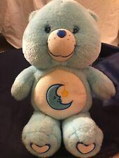 Care Bears Bedtime Bear 13� Plush Stuffed Animal 2003 White Hearts On Feet