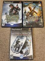 Medal of Honor: Frontline, rising sun, European assault Sony PlayStation 2 ps2