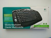 Logitech Media Keyboard PS/2 New Open Box
