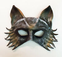 Grey Zombie Wolf Mask by Maskelle Masks flexible comfy Halloween Adult Costume