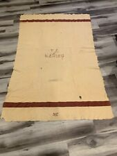 PRE WWII US Army MEDICAL Corps MD WOOL BLANKET 86 x 64 Dated 1937, Striped