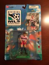 Ban Dai MLS Collectible Figure and Trading Card Alexi Lalas 4 inches