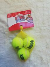 KONG SqueakAir Tennis Balls Squeaky X Small  Dog Toy Fetch Play Brand New