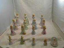 Vintage 1981 Enesco Growing Up Birthday Girl Blonde Complete Set Baby-16 Years