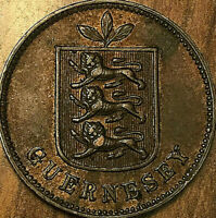 1889 GUERNESEY 1 DOUBLE COIN