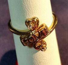 LOVE RING 14 K GOLD 2.6 GRAMS SIZE 5 1/4