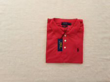 Original Ralph Lauren Polo Slim Fit Red Unisex Shirt With Tags