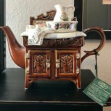 Portmeirion Collectible Teapot Large Wash Stand Made in England