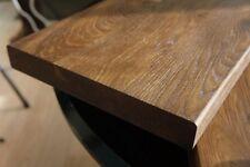 Treppenstufe Räuchereiche Regalböden durchgehende Lamellen 40mm gebürstet geölt