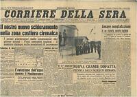 CORRIERE DELLA SERA 17 APRILE 1942  GIORNALI DI GUERRA