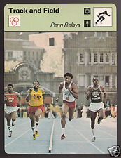 PENN RELAYS Steve Williams & Riddick Track & Field 1978 SPORTSCASTER CARD 19-11