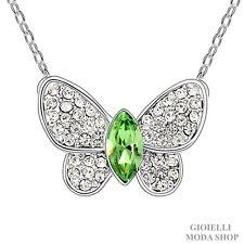Collana Donna con Ciondolo Farfalla Crystal Swarovski Zirconi - G104