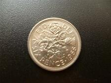 1966 ENGLISH SIXPENCE PIECE IN EXTREMELY FINE CONDITION. 1966 SIXPENCE COIN.