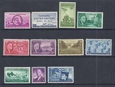 US 1945 Complete Commemorative Year Set of 11 - FDR, Army & Navy - MNH*