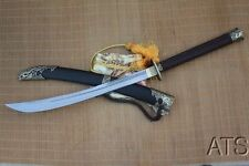 Hand Forged Chinese Dragon Folded Broadsword Full Tang Sharp + Red Box