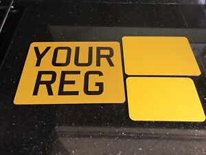 """9x7"""", 8x6"""", 7x5"""", 6x4"""" MOTORCYCLE MOTORBIKE NUMBER PLATE FREE FIXING PADS!"""