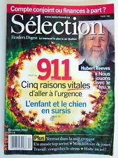 SÉLECTION DU READER'S DIGEST DE DÉCEMBRE 2002, EN COUVERTURE: HUBERT REEVES