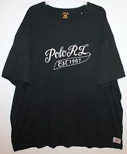 Polo Ralph Lauren Big and Tall Mens Black Polo RL Crewneck T-Shirt NWT $65 4XB