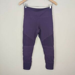 ZYIA  Active Purple High Rise Perforated Legging 6-8 Women's