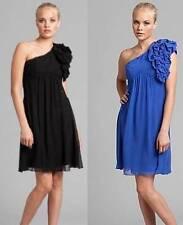 GUESS by Marciano Georgette Rilea Black One-Shoulder Dress  .NWT Sz. XS