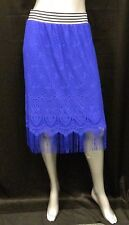6TH & LANE BRYANT NWT Cobalt Blue Crochet Stretch Skirt Plus sz 22/24W $59