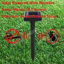 Solar Spike Powered Mole Repeller Sonic Waves ULTrasonic Deterrent Snake Rodent