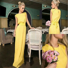 Fashion Womens Sleeveless Evening Wedding Bridesmaids Party Prom Maxi Long Dress