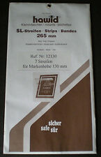 Hawid Stamp Mounts Size 130/265 BLACK Background Pack of 7