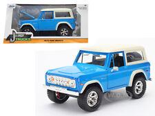 1973 FORD BRONCO BLUE 1/24 DIECAST MODEL CAR BY JADA 98278