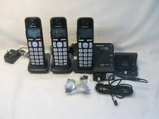 Panasonic Kx-Tge433B Cordless Phone w/Digital Answering Machine Call 3 Handsets