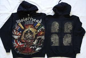 Motörhead Lemmy 1916 All Print Official Zipper Hoodie Kapuzenjacke Ace Of Spades