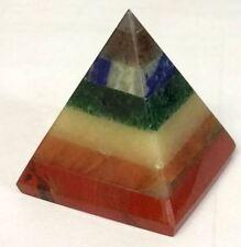 Large 30 - 40 mm 7 Chakra Stone Crystal Pyramid (Reiki Healing Meditation)