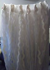 """Ivory and Transparent Window Curtains 127"""" x 95"""""""
