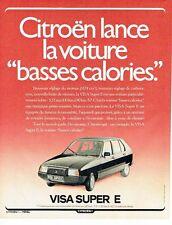PUBLICITE ADVERTISING 0217  1980  la Citroen  la Visa super E