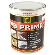 DURAM WB PRIMER 4 LITRE WATER BASED PRIMER NEW WATERPROOFING