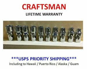 "NEW - Craftsman 10 PC MM 1/4"" Drive Swivel Flex 6 PT Socket Set Metric Wobble"