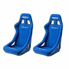 2 x Sparco Sprint Pair Of  FIA Approved Racing Track Bucket Seats - Blue